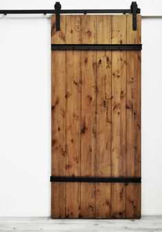 "Sturdy wood planks bolted Standard door sizes are 82""H x 36""W and the larger 96""H x 48""W. Our collection of Dogberry sliding barn doors has quickly become one of our most popular. Nothing completes a"