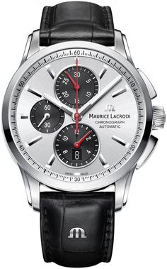 @mauricelacroix Watch Pontos Chronograph #add-content #basel-16 #bezel-fixed #bracelet-strap-leather #brand-maurice-lacroix #case-material-steel #case-width-43mm #chronograph-yes #date-yes #delivery-timescale-call-us #dial-colour-silver #gender-mens #luxury #movement-automatic #new-product-yes #official-stockist-for-maurice-lacroix-watches #packaging-maurice-lacroix-watch-packaging #style-dress #subcat-pontos #supplier-model-no-pt6388-ss001-131-1…