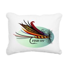 Fish On Rectangular Canvas Pillow on CafePress.com