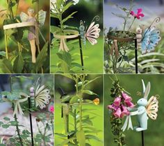 """Winged GardenFriends Plant Supports by Outdoor Décor. $359.99. Multi-colored. Original design by © Monika Brint. 4""""L x 4""""""""W x 36""""H. Polystone & Metal. 24 piece with CDU. Function and whimsy have joined forces in the garden with this playful assortment of useful stakes keep your blooms straight. While bunnies and butterflies take care of flowers, fairies keep the garden work organized. The presence of this collection will turn that special planter bed into an enchanted gard..."""