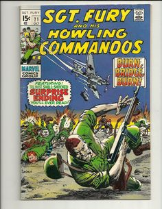 Sgt Fury And His Howling Commandos No. 71 - Marvel Comic Book Oct 1969