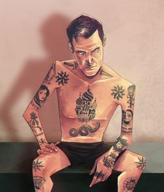 Infographic about russian criminal tattoo.