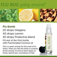 Flu Bomb with doTERRA essential oils. oregano, lemon, On Guard Essential Oils For Headaches, Essential Oil Uses, Roller Bottle Recipes, Oil For Headache, Young Living Oils, Aromatherapy Oils, Doterra Essential Oils, Doterra Blends, Have Time