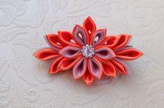 Orange Kanzashi flower