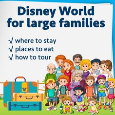 (Article last updated: January 4, 2016) Lots of you have requested a trip plan for large families. I've held off for a little bit on doing this because...let's just say...I've learned some of these things the hard way. Here are some ideas for doing a Disney World with a group... Where to stay...