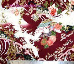 Quilt Gate Japanese Hyakaryoran Cranes