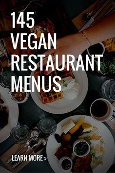 145 Vegan Restaurant Menus Every Vegan Needs to Know - My Vegan Recipes Menu Restaurant, Vegan Restaurant Options, Vegan Restaurants, Restaurant Identity, Vegan Cafe, Vegan Menu, Vegan Vegetarian, Vegetarian Recipes, Vegan Fast Food Options