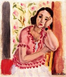 Woman Leaning - Henri Matisse - The Athenaeum Henri Matisse, Matisse Kunst, Matisse Art, Matisse Paintings, Picasso Paintings, Monet, Robert Rauschenberg, Joan Mitchell, Post Impressionism
