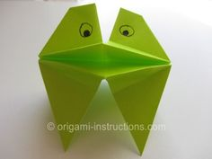 Origami Talking Frog Folding Instructions