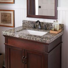 home decorators collection 25 in. w granite single basin vanity