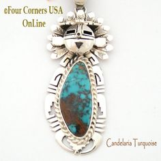 Four Corners USA Online - Candelaria Turquoise Sun Kachina Pendant Navajo Artisan Freddy Charley NAP-1532, $620.00 (http://stores.fourcornersusaonline.com/candelaria-turquoise-sun-kachina-pendant-navajo-artisan-freddy-charley-nap-1532/)