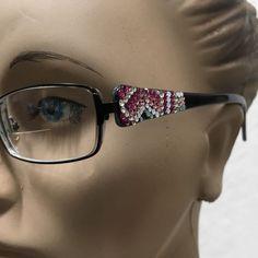 b22952854de1 Jimmy Crystal NY Eyeglass Frame Garbo Swarovski Glasses 54~17   JIMMYCRYSTALNEWYORKwithSWAROVSKIElements My Ebay