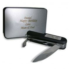 Personalised Pen Knife and Box Set  from Personalised Gifts Shop - ONLY £16.99