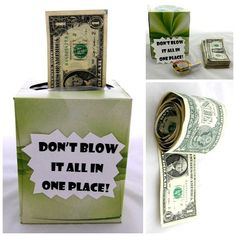 Punny Are These 5 Crafty Ways to Give Cash Gifts? Cash is always a thoughtful gift, but these DIY ideas make the gesture extra special.Cash is always a thoughtful gift, but these DIY ideas make the gesture extra special. Creative Money Gifts, Cool Gifts, Diy Gifts, Gift Money, Money Gifting, Money Cake, Money Box, Party Gifts, Diy Christmas Gifts