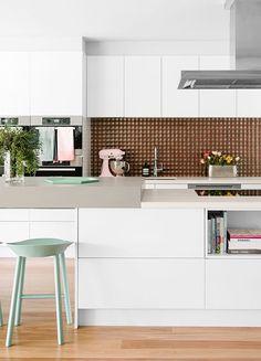 | Kitchen trends: mint barstools