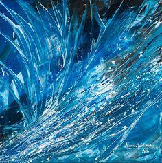 """""""Cresta de la ola""""  - cuadro abstracto Acrílico sobre bastidor de 80 x 80 @arianamatulionis"""