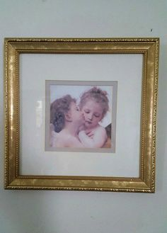 Angel Painting Shabby CHIC Gold Frame Nicely by HallowedHome