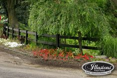 2-Rail Post and Rail Vinyl Fence in Grand Illusions Color Spectrum Black (L105). Post and Rail fences available in six different styles.