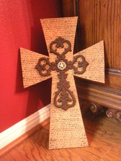 Stacked Cross with Cast Iron and Concho by CountryGooseBoutique, $35.00