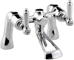 Bristan Renaissance Traditional Bath Filler - Chrome Plated - at Victorian Plumbing UK Shower Taps, Bath Shower Mixer, Bathroom Taps, Kitchen Taps, Downstairs Bathroom, Traditional Baths, Traditional Bathroom, Bristan Taps, Waterfall Bath Taps