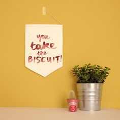 You Take the Biscuit Printed Fabric Banner by @nikkimcwilliams