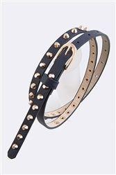 Navy Blue Studded Skinny Belt $12.99