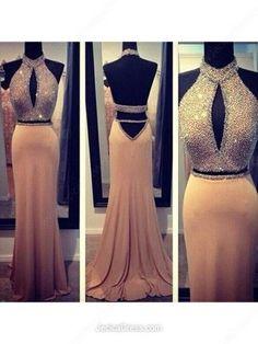 Backless prom Dress,Charming Prom Dress,Long prom dress,Halter prom dress,evening dress,BD026