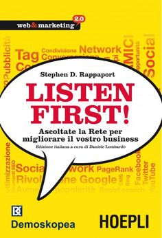 Nuovo libro sul monitoraggio delle conversazioni dei clienti tramite i media sociali. Io l'ho già messo nella mia lista desideri di Anobii. Voi lo comprereste?