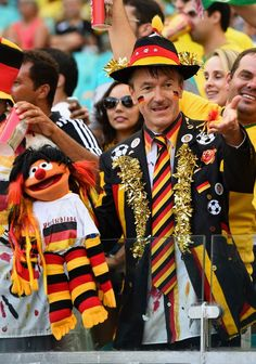 The Germany Fan From Sesame Street | www.dribblingman.com
