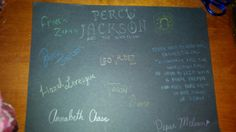 Percy Jackson and the Olympians and the Heroes of Olympus the prophecy of seven signed by Percy Jackson, Annabeth Chase, Piper Mclean, Leo Valdez, Jason Grace, Hazel Levesque, and Frank Zhang