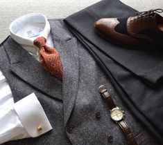 """suitandtiefixation: """" Last outfit's flaflay comes in a different format. Let me know how you like it this way. Featuring pin collar shirt by @miler_menswear print madder tie by @drakesdiary waistcoat and shoes by @charlestyrwhitt trousers by..."""