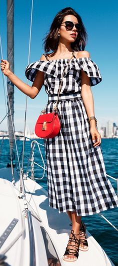 Summer Boat Trippin' Outfit Idea by Vivaluxury