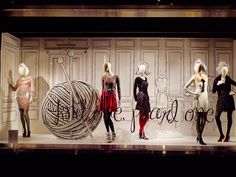 #1 Review's window display at Myer, Australia.  I love illustrations!