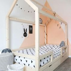 Little dreamers Bedhuisje Finn 200 Baby Bedroom, Home Bedroom, Girls Bedroom, Ideas Hogar, Childrens Beds, House Beds, Kids Room Design, Kid Beds, Girl Room
