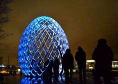 Lux Helsinki is arranged now for the 7th time. The installations can be seen from Sunday 4th of January until Thursday 8th of January from 5pm until 10 pm 2015.   Our picture is featuring the installation at Hakasalmen Huvila called OVO by ACT Lighting design & Odeaubois.