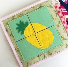 Quiet book, felt pineapple