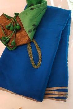 Wedding Saree Blouse Designs, Wedding Silk Saree, Plain Chiffon Saree, Floral Print Sarees, Saree Wearing, Stylish Blouse Design, Saree Models, Saree Dress, Saree Collection