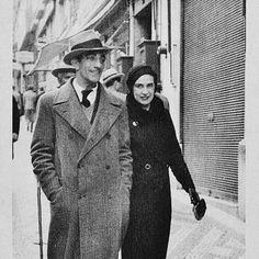 Almada Negreios e Sarah Affonso no Chiado, 1934