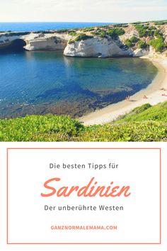 Reisetipps für Sardinien: Gerade der Westen der Insel ist wunderschön und noch nicht so überlaufen. Tipps für die Reise auf diese Italien-Insel, Tipps für den Familienurlaub und das Reisen mit Kindern und über den Urlaub im Agriturismo.