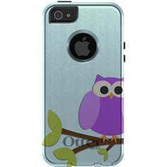 Custom Glacier White  Grey OtterBox Commuter Series Case for Apple iPhone 5  5S  Purple Owl Cartoon -- Check out the image by visiting the link.