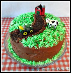 Farm themed kids birthday party and farm cake from My Nearest and Dearest