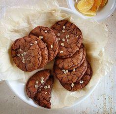chocolate caramel ginger cookies