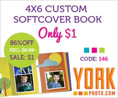 Great gift idea for the upcoming holiday! Custom Photo book for $1