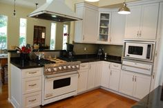 Small Kitchens with Pass Through hood | kitchen makes for an awkward layout with small counter space, small ...