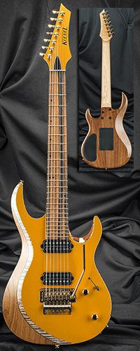 Kiesel Guitars A7C 24 Fret Bolt-On Neck 7-String Guitar w/ Floyd Rose Tremolo Serial Number 131488