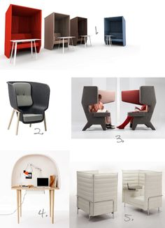 In love with the Alcove Work by Furniture - is it ok to want one at home? Vitra Furniture, Office Furniture Design, Workspace Design, Space Furniture, Cheap Furniture, Loft Bed Plans, Cool Office Space, Futuristic Interior, Single Sofa