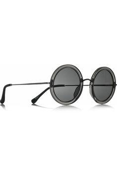 The Row|Round-frame acetate and metal sunglasses|NET-A-PORTER.COM