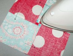one of my favorite pressing tips. it's magical! source: riley blake designs blog @ Do It Yourself Pins