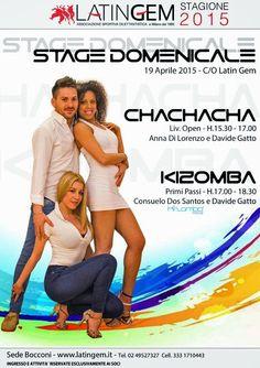 Doppio appuntamento con il ballo - domenica 19 aprile  www.latingem.it  #stage   #chachacha   #kizomba   #domenica   #milano   #latingem