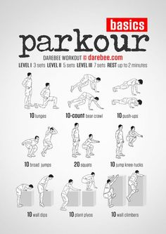 Parkour workout, Parkour and Workout on Pinterest